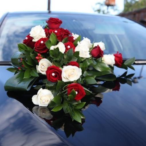 Цветы своими руками для свадебных машин 91